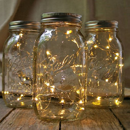 Mason jar solar fairy lights